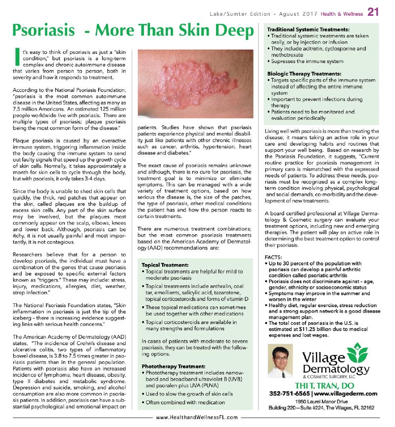Psoriasis More Than Skin Deep Village Dermatology